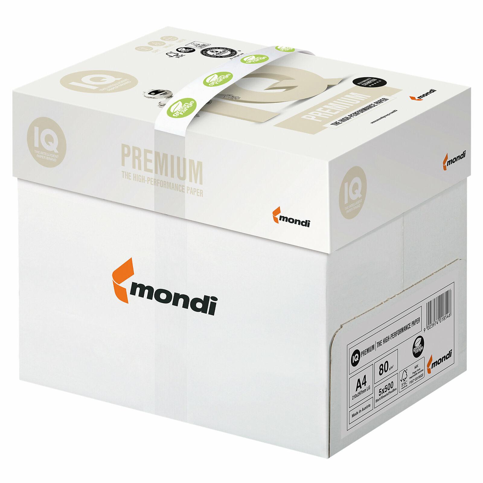 2500 Blatt Mondi IQ Premium Kopierpapier Trio-Tec DIN-A4, 80g/m²