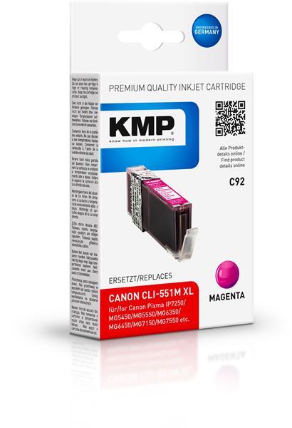 KMP Patrone C92 für Canon CLI-551M XL Pixma IP7250 etc. magenta