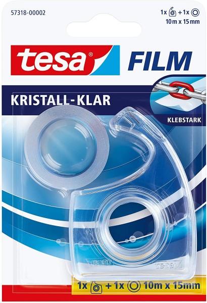 tesa Film Handabroller kristall-klar, 1 Stück