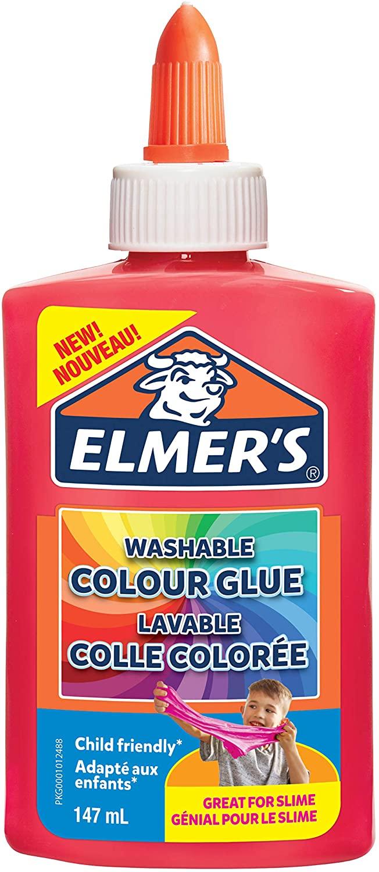 Elmer's auswaschbarer, farbiger PVA-Kleber | pink | 147 ml | ideal zur Herstellung von Schleim | 1 S