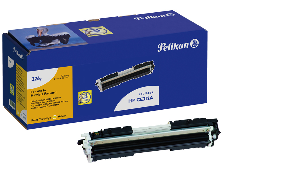 Pelikan Toner 1226 für HP CE312A Color Laserjet CP1025 etc. yellow