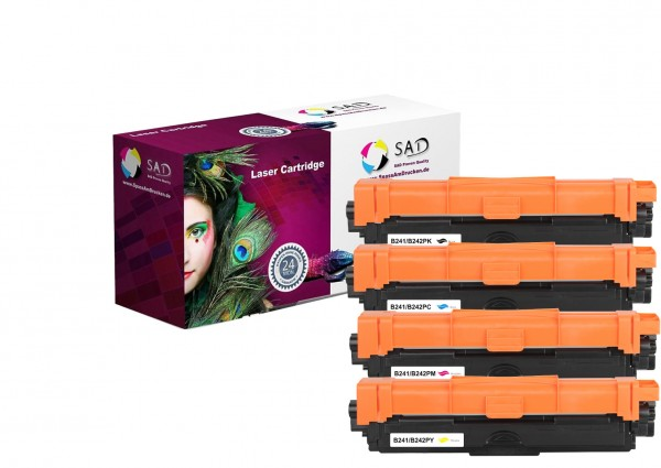 4er Pack SAD Premium Toner komp. zu Brother TN-241 / TN-242 BK C M Y