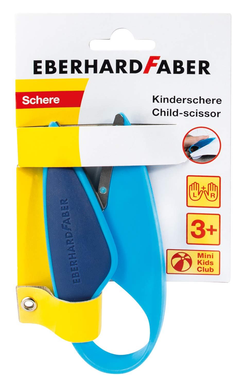 Eberhard Faber 579951 Kinderschere für Linkshänder und Rechtshänder, optimal zum Schneiden und Baste