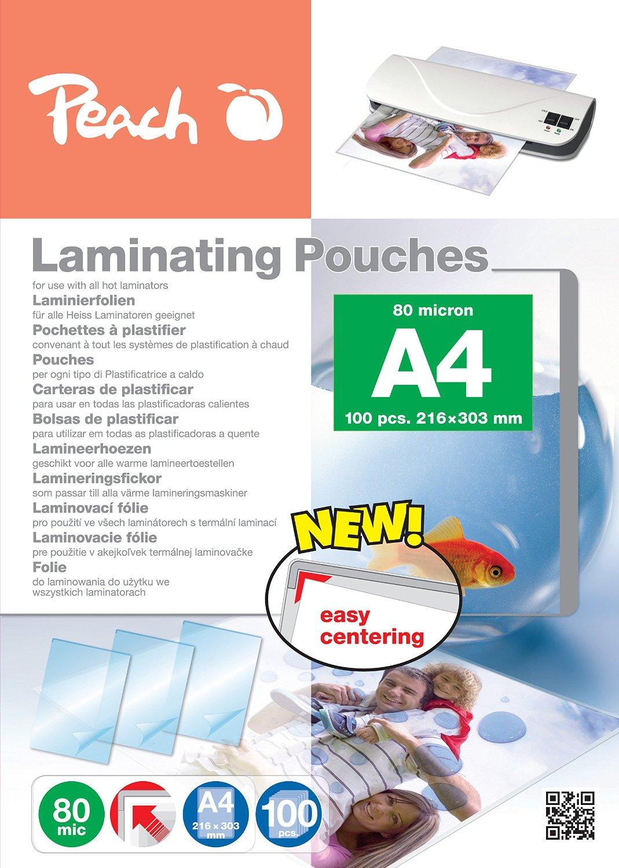 Peach Laminierfolien A4 80 mic glänzend PP580-02 100 Stück