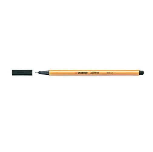 Fineliner - STABILO point 88 - Einzelstift - schwarz