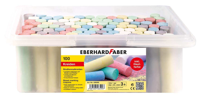 Eberhard Faber 526599 - Straßenmalkreide, 100er Eimer