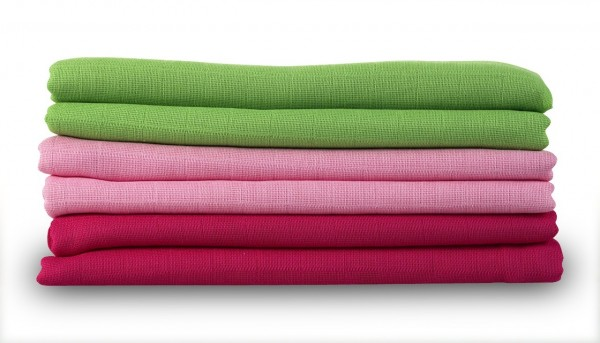 MAKIAN Spucktücher / Moltontücher - 6er Pack - 80 x 80 cm - Grün Rosa Pink Schadstoffgeprüft (ÖKO-TE