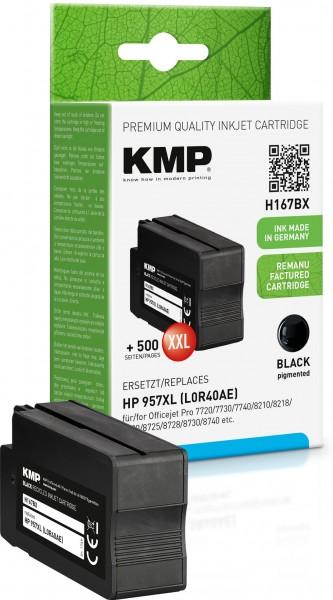 KMP H167BX schwarz Tintenpatrone ersetzt HP OfficeJet Pro HP957XL (L0R40AE)