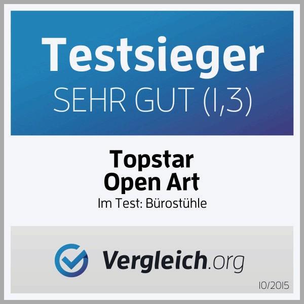 Topstar Open Art 2010 ergonomischer Bürostuhl, Schreibtischstuhl, inkl. höhenverstellbare Armlehnen,