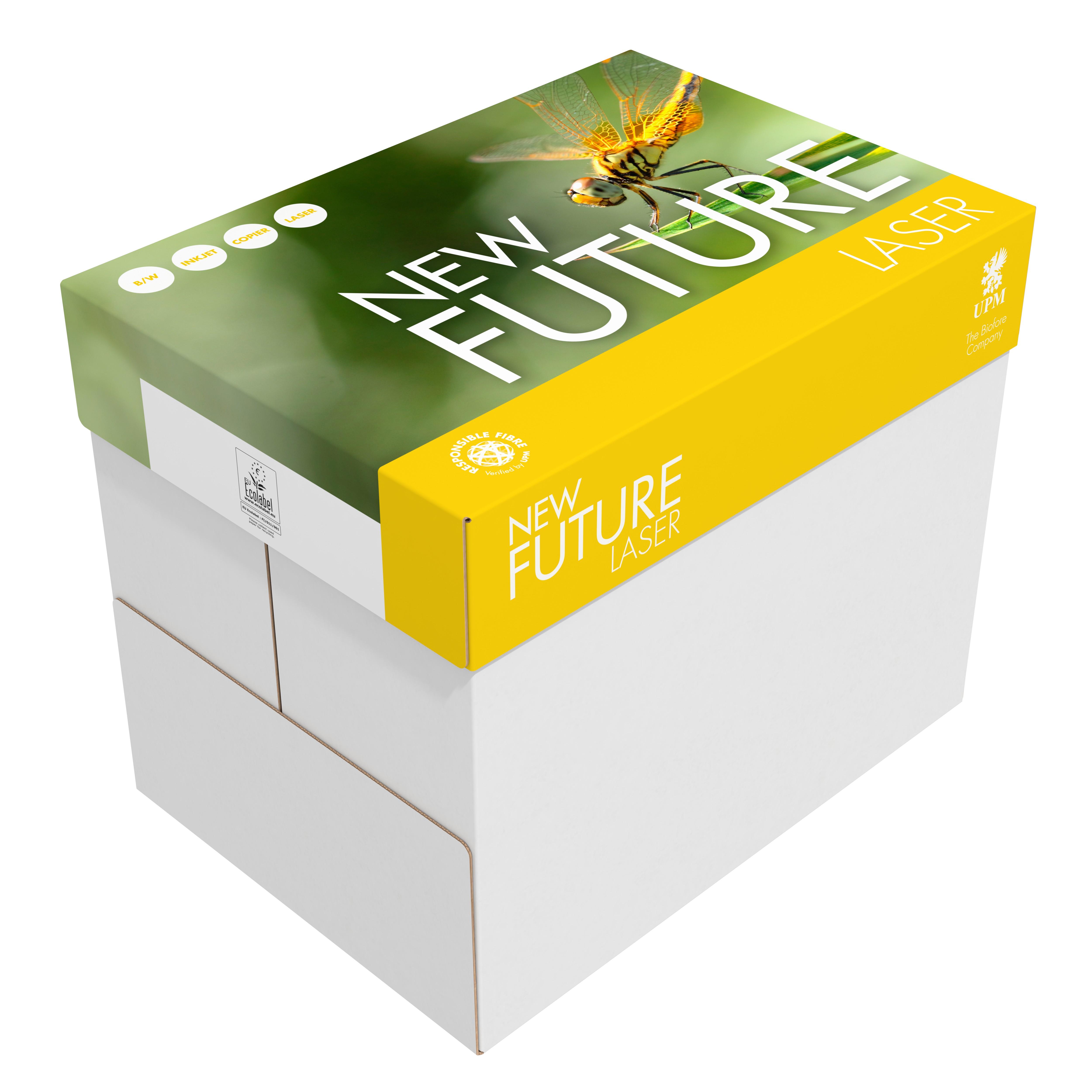 100.000 Blatt New Future Laser Papier 80g/m² DIN-A4 - weiß