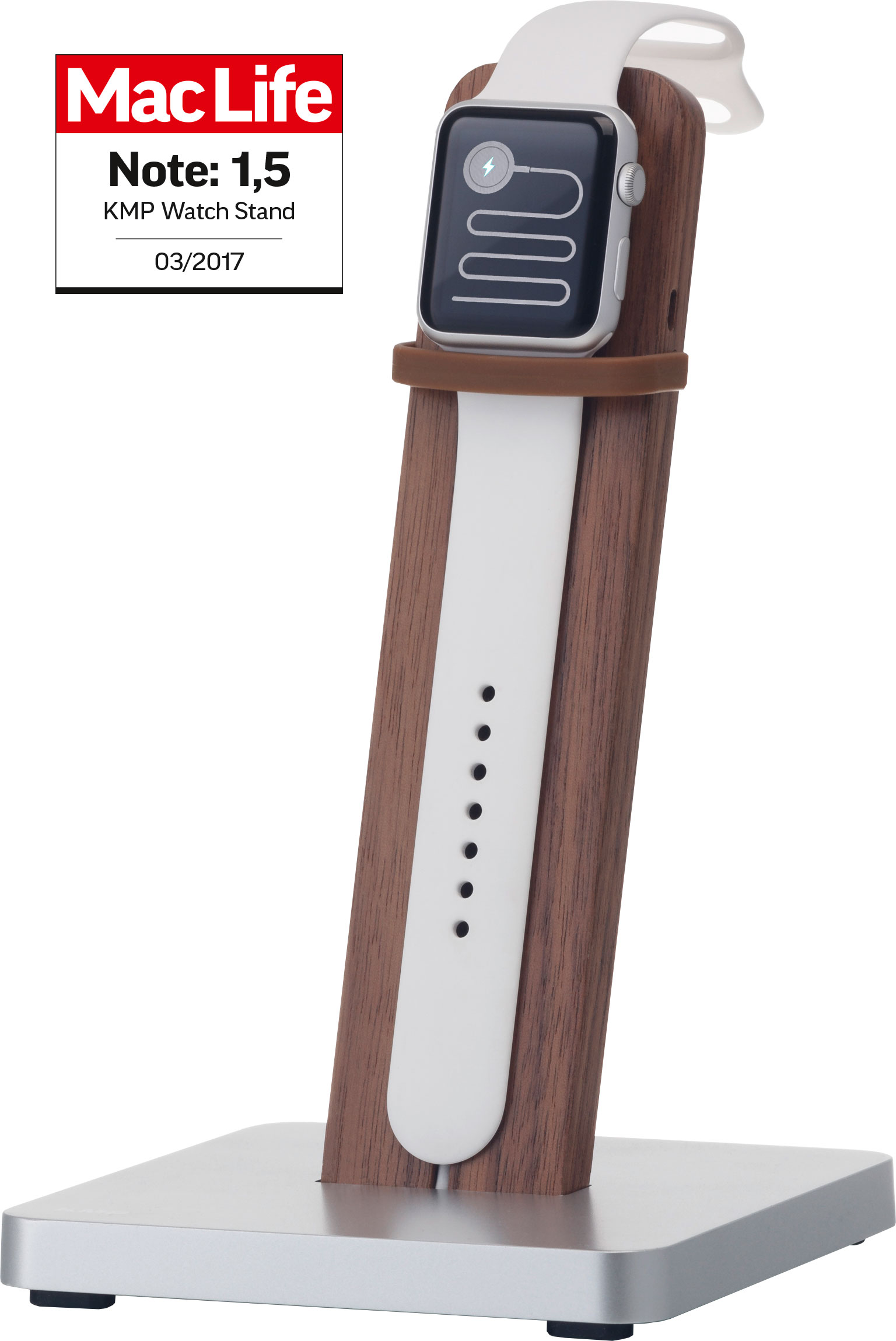KMP Smartwatch Ständer für Apple Watch Walnuss / walnut