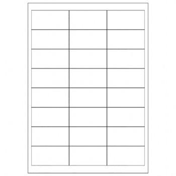 tecno labels Universaletiketten weiß 100 Blatt (66 x 33,9mm)
