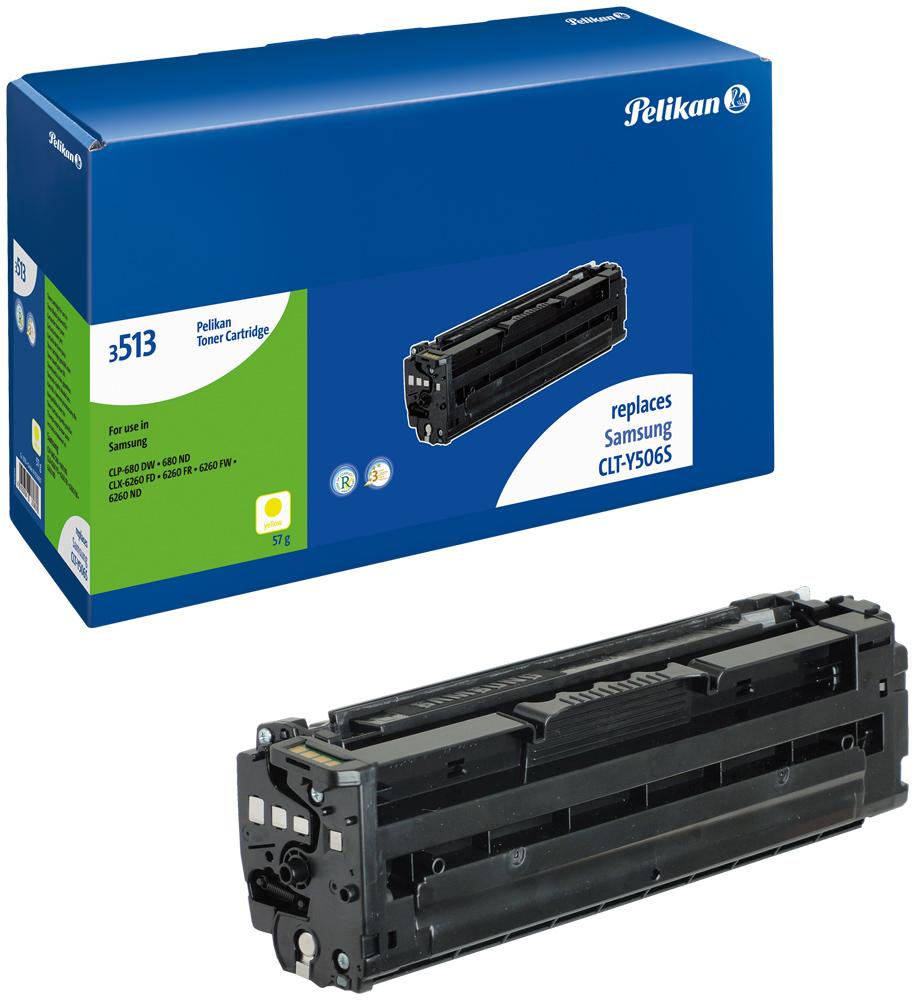 Pelikan Toner 3513y komp. zu CLT-Y508S Samsung CLP-680 DW etc. yellow
