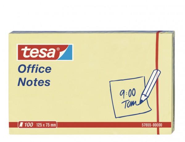 tesa Office Notes 100 Blatt, gelb 125mm x 75mm