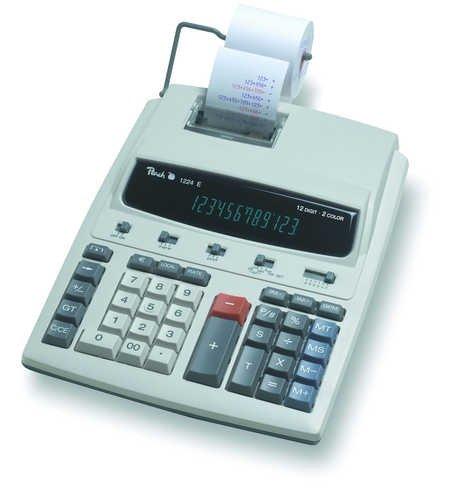 Peach Tischrechner PR671, 12-stellig, Netzadapter eingebaut