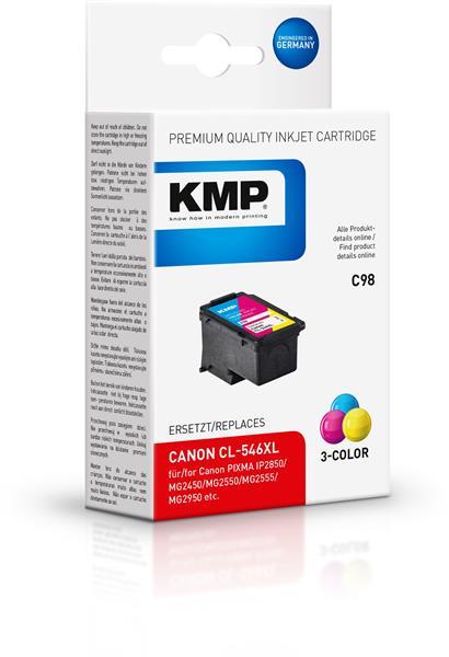 KMP Patrone C98 komp. PG545XL  für Canon Pixma IP 2850 etc. color