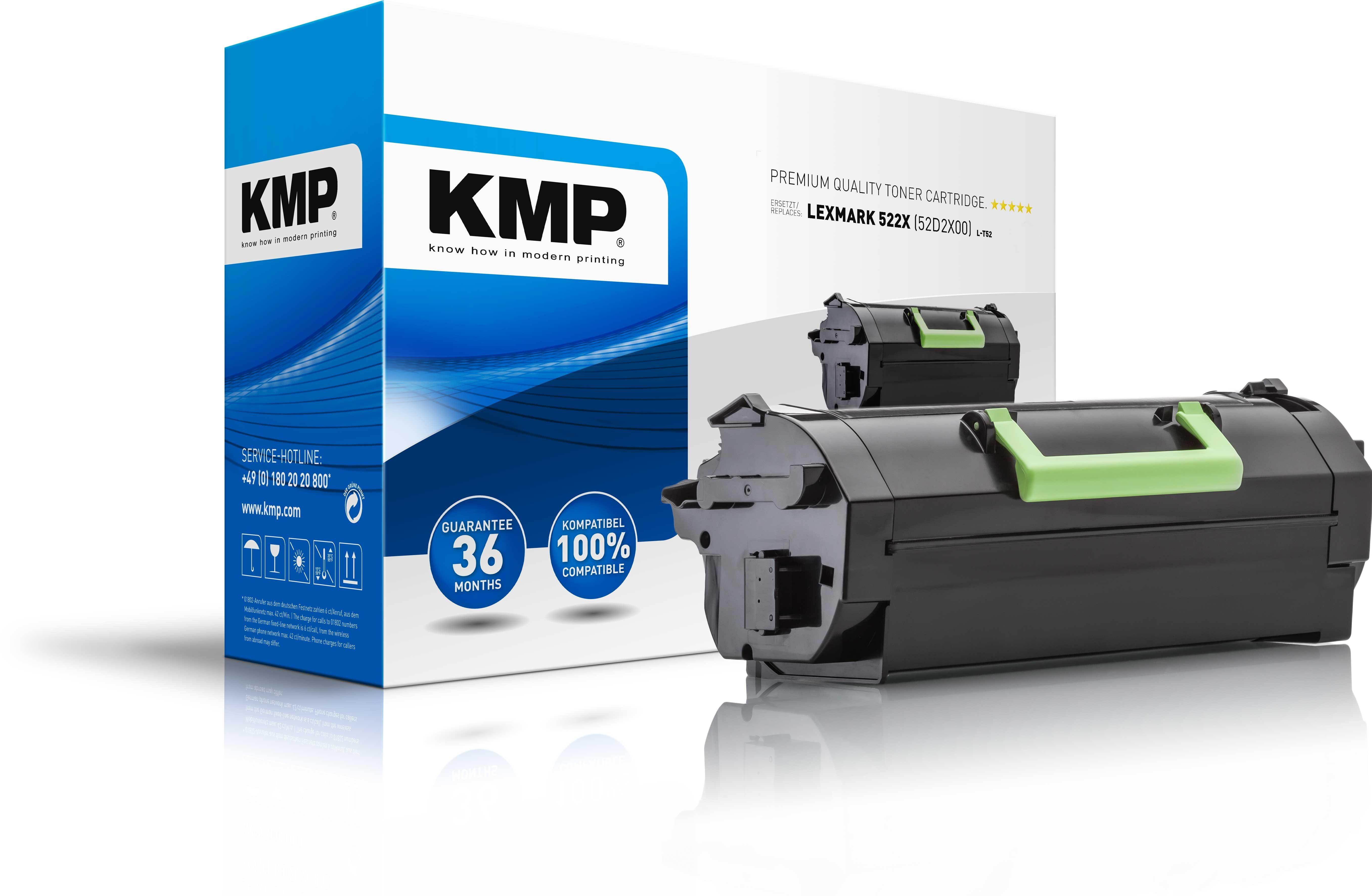 KMP Toner L-T52 für Lexmark 52D2X00 MS711 etc. black