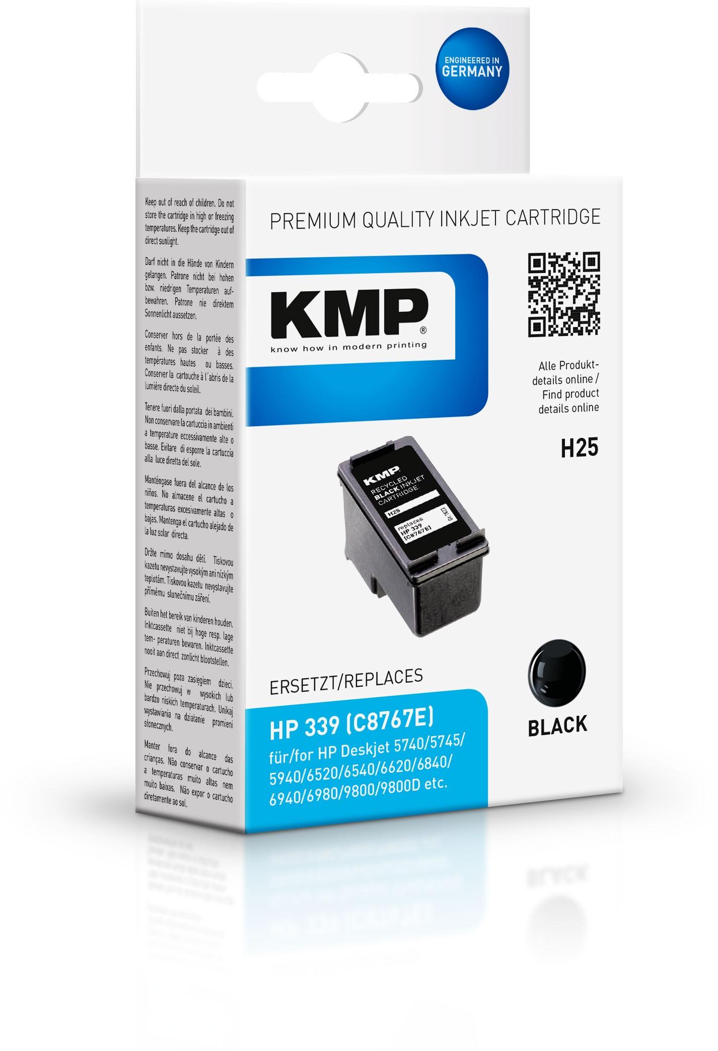 Vorschau: KMP Patrone H25 komp. C8767E HP DeskJet 6540 9800 black