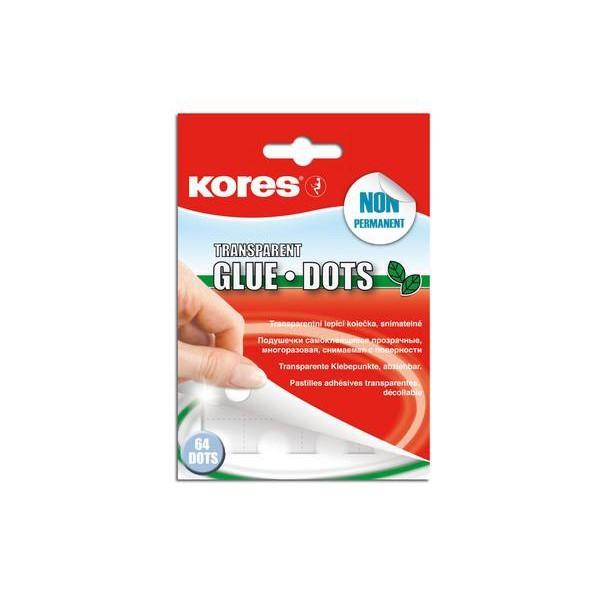 Kores Klebepunkte transparent / Glue Dots 64 St. abziehbar K31603