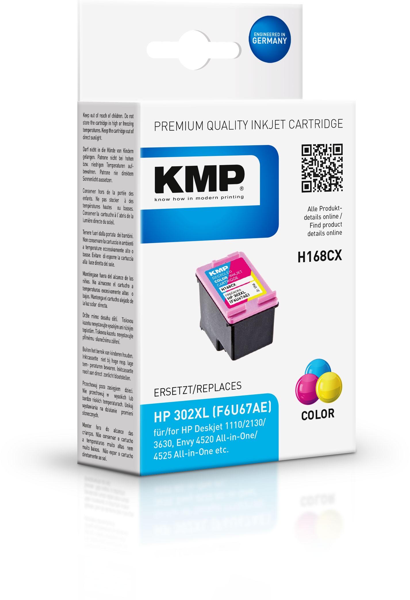 KMP Patrone H168CX für Deskjet 1110 Deskjet 2130 etc. color