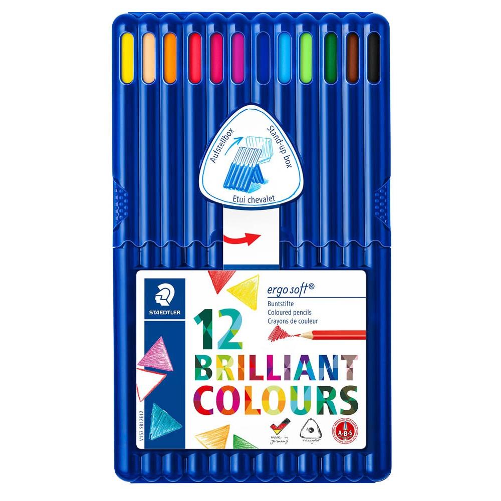 STAEDTLER ergosoft Buntstifte 157, ergonomische Dreikantform, intensive und kräftige Farben, weiche