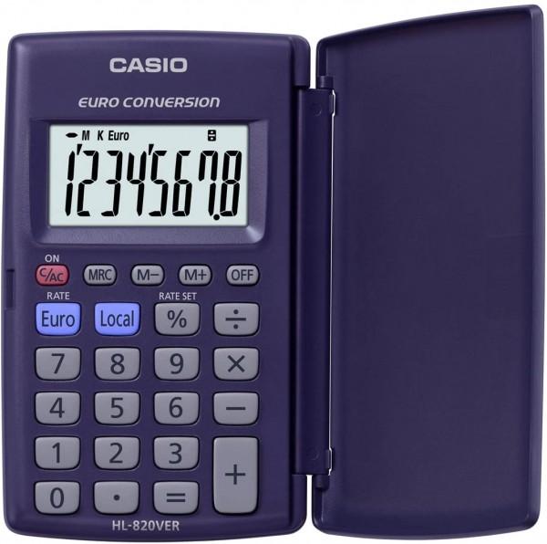 CASIO HL-820VER Taschenrechner 8-stellig mit 360° umschlagbarer Schutzklappe, Batteriebetrieb
