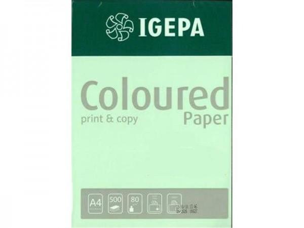 Igepa Coloured Paper Pastell grün 80g/m² DIN-A4 - 500 Blatt