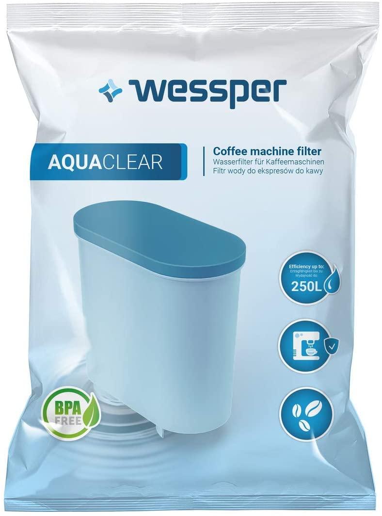 Wessper Kaffemaschinenwasserfilter WES040, kompatibel mit Saeco und Phillips, Ersatzfilter für AquaC