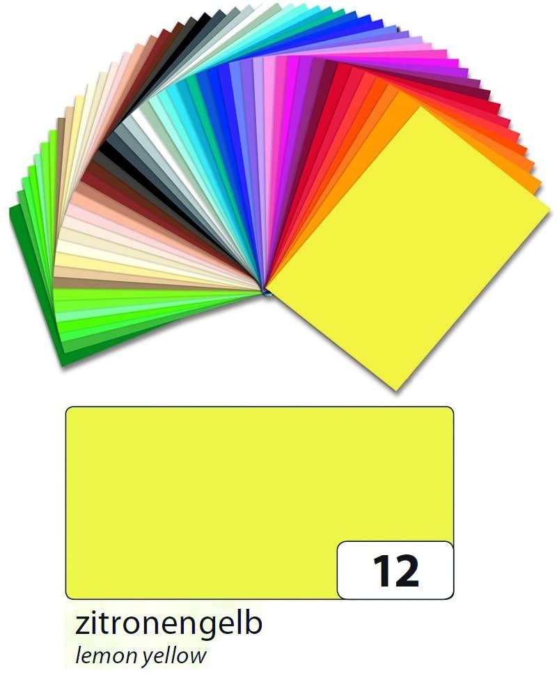 folia Tonpapier 130g/qm DIN A3, 50er Pack Zitronengelb