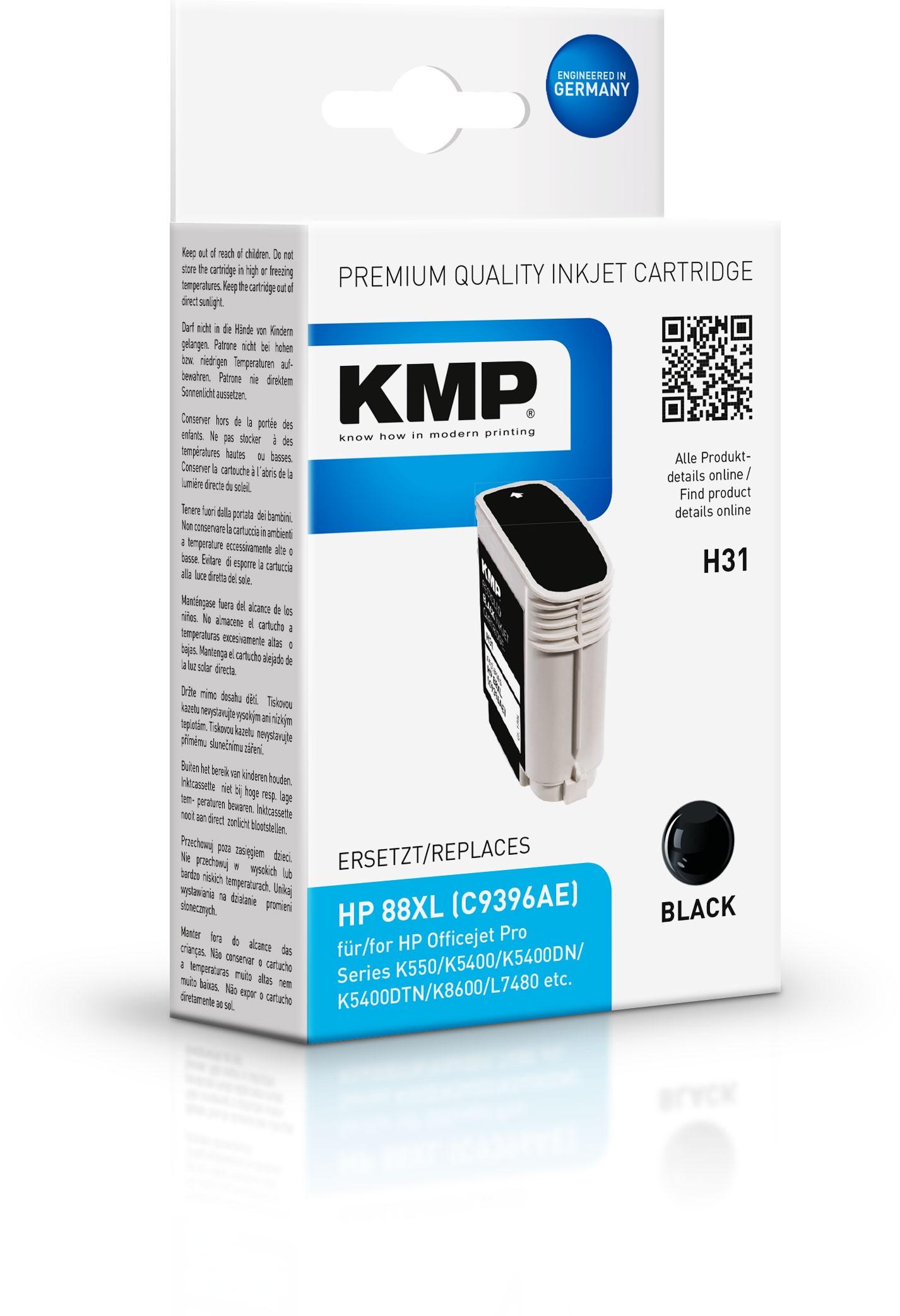 Vorschau: KMP Patrone H31 komp. C9396AE HP 88XL für HP Officejet Pro K550