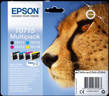 Original Epson Multipack T0715 für Stylus D78 D92 DX4000 etc. bk c m y
