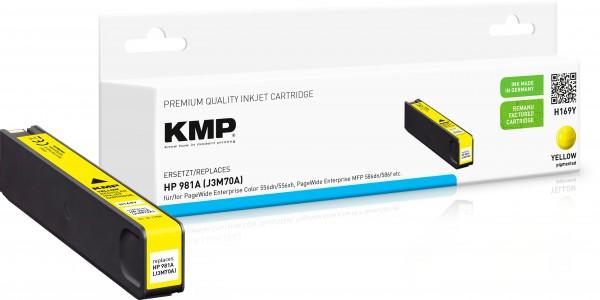 KMP H169Y gelb Tintenpatrone ersetzt HP Page Wide Enterprise HP 981A (J3M70A)