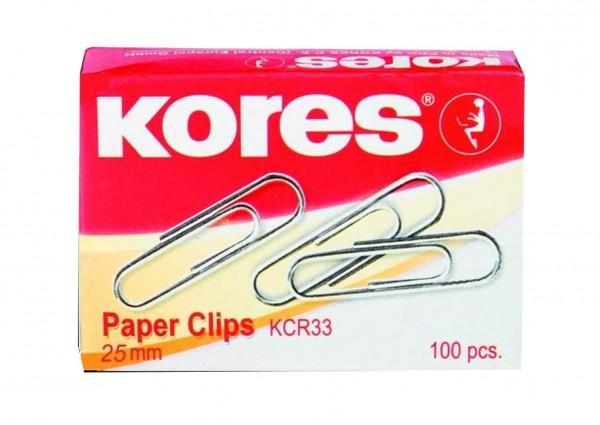 Kores Büroklammern 25mm - 100 St. BBK43010