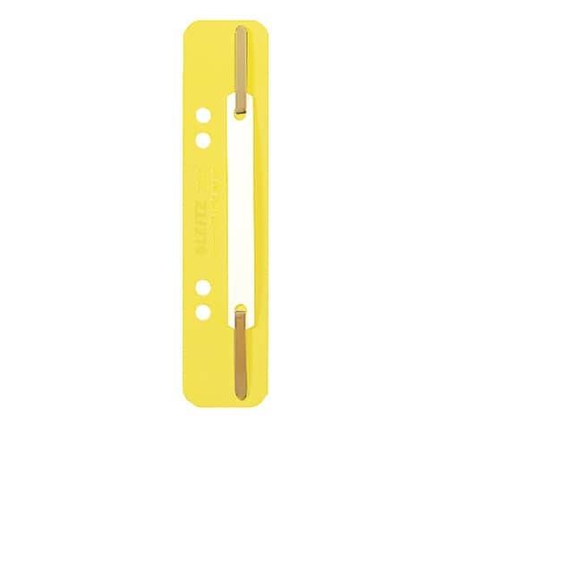 LEITZ 3710 Einhänge-Heftstreifen PP, kurz - gelb, 25 Stück
