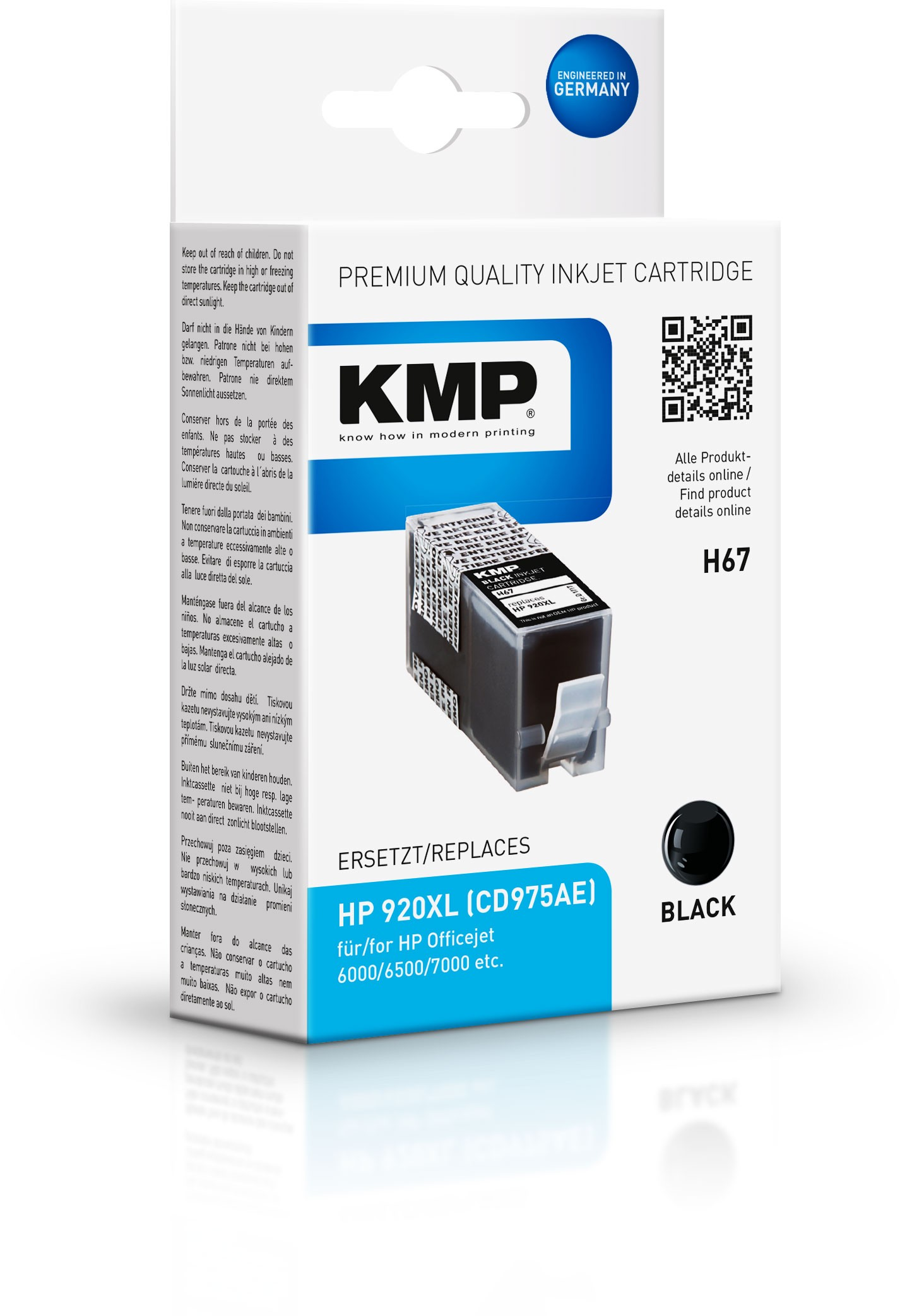 Vorschau: KMP Patrone H67 HP 920XL (CD975AE) Officejet 6000/6500/7000 schwarz