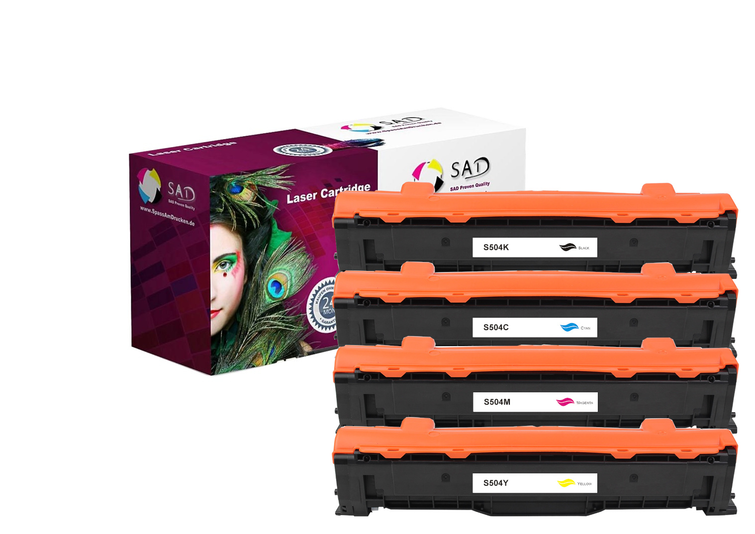 SAD Premium 4er PACK komp. zu Samsung CLT- K504S - C504S - M504S - Y504S black cyan magenta yellow