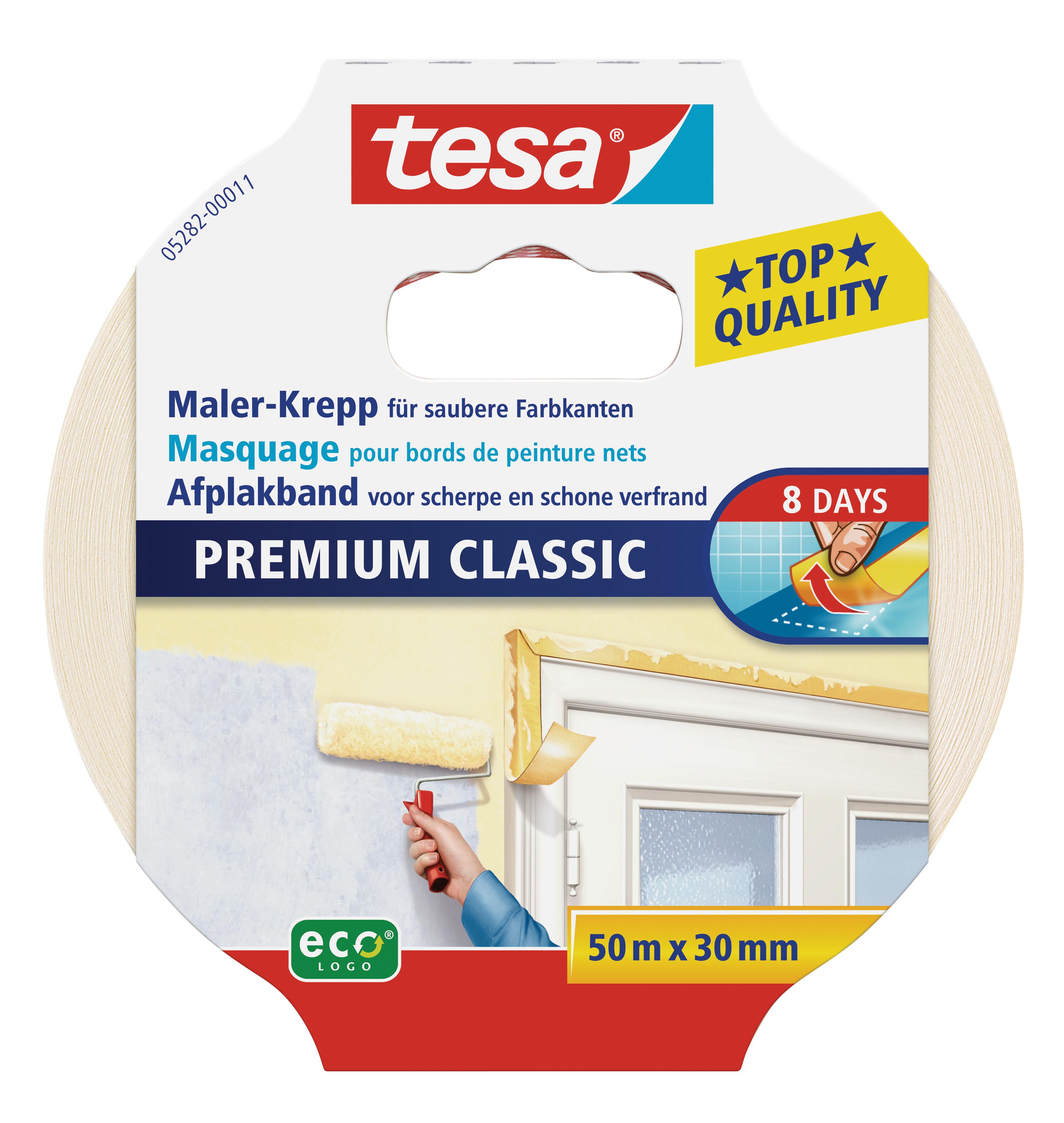 GP: 0,07 EUR/m tesa Maler-Krepp Premium Classic 50m x 30mm