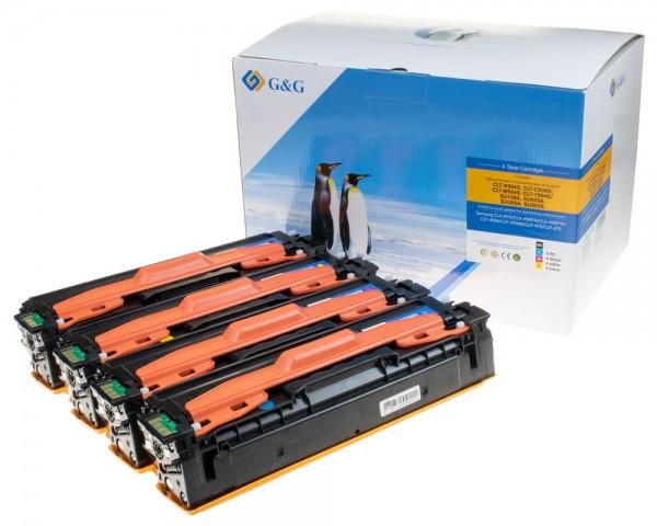 G&G Toner kompatibel zu Samsung P504C/ SU400A je 1x Schwarz, Cyan, Magenta, Gelb
