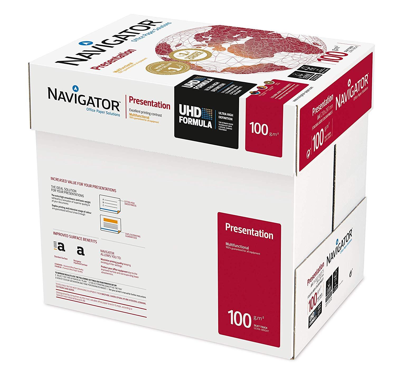 80.000 Blatt Navigator Presentation 100g/m² DIN-A4 weiß