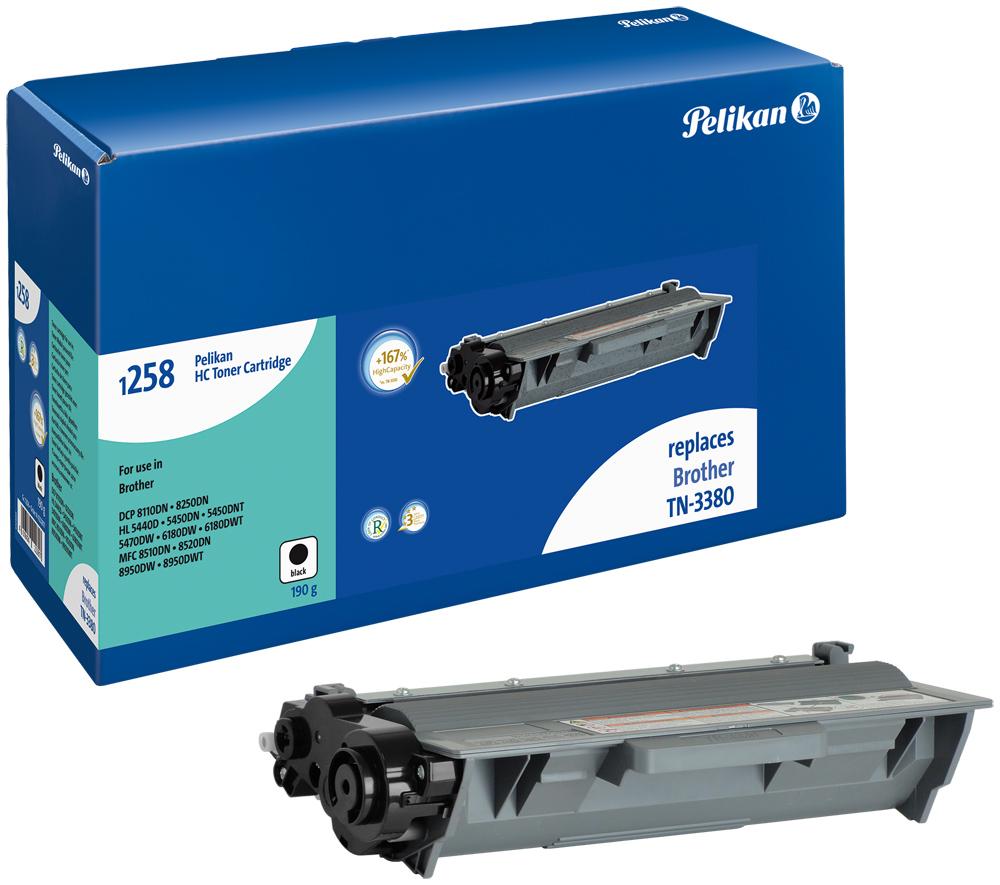 Pelikan Toner 1258 HC für TN-3380 Brother DCP-8110DN etc. Black