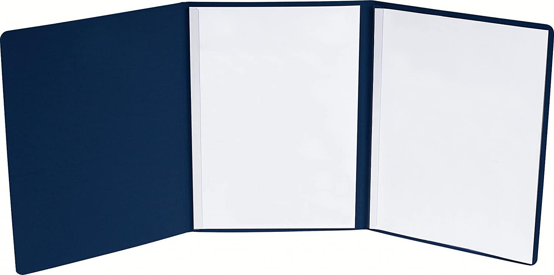 Exacompta 49707B Bewerbungsmappe Prestige (3-teilig mit 2 Klemmschienen Kapazität 30 Blatt aus Manil