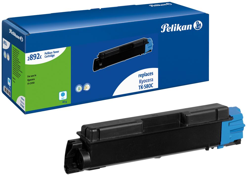 Pelikan Toner 2892c komp. zu TK-580C Kyocera FS-C5150 cyan