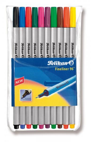 Pelikan Fineliner 96 Etui, 10 Farben sortiert 0,4 mm