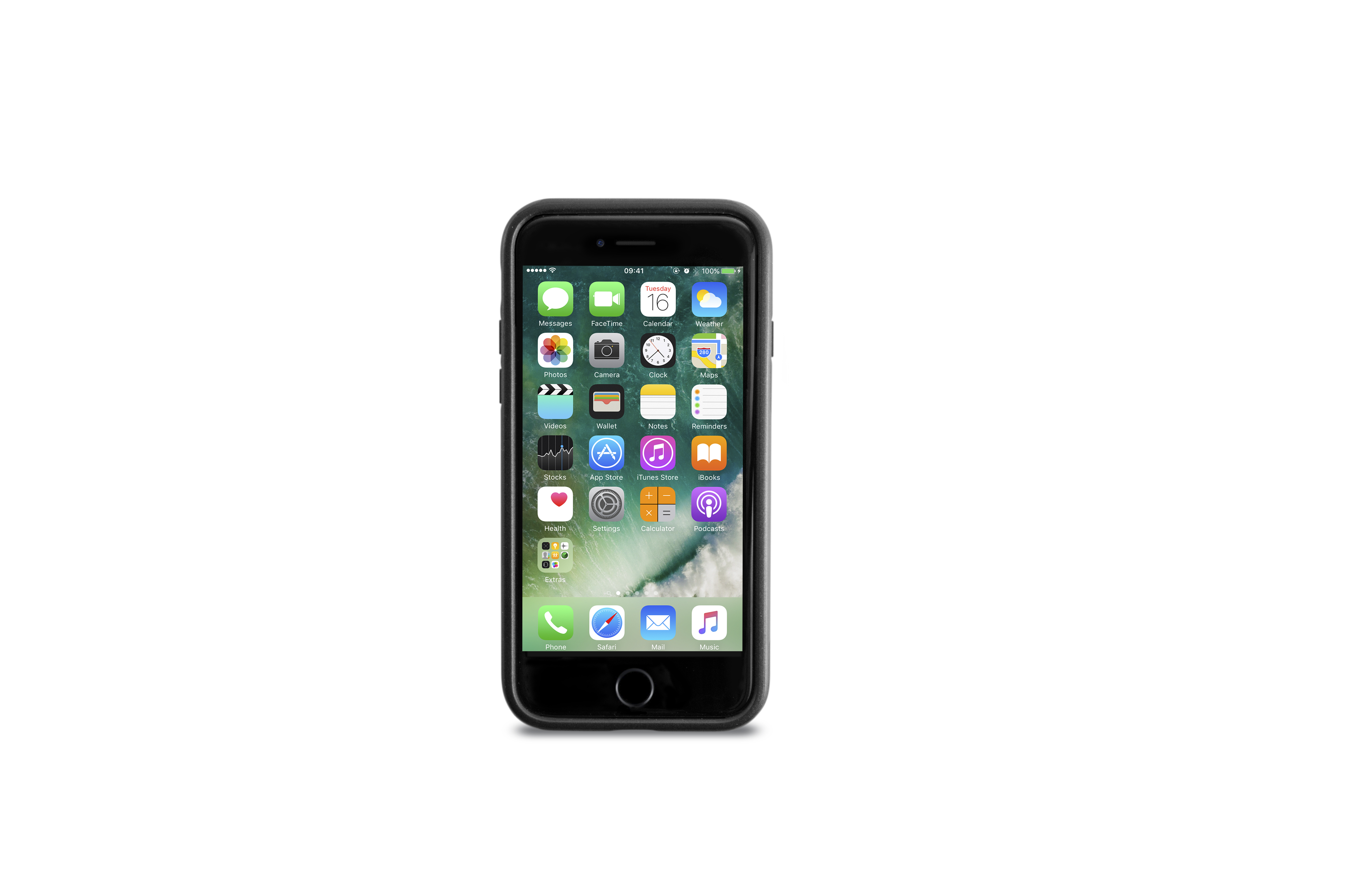 KMP Schutzhülle Sporty Case für Apple iPhone 7, black stone