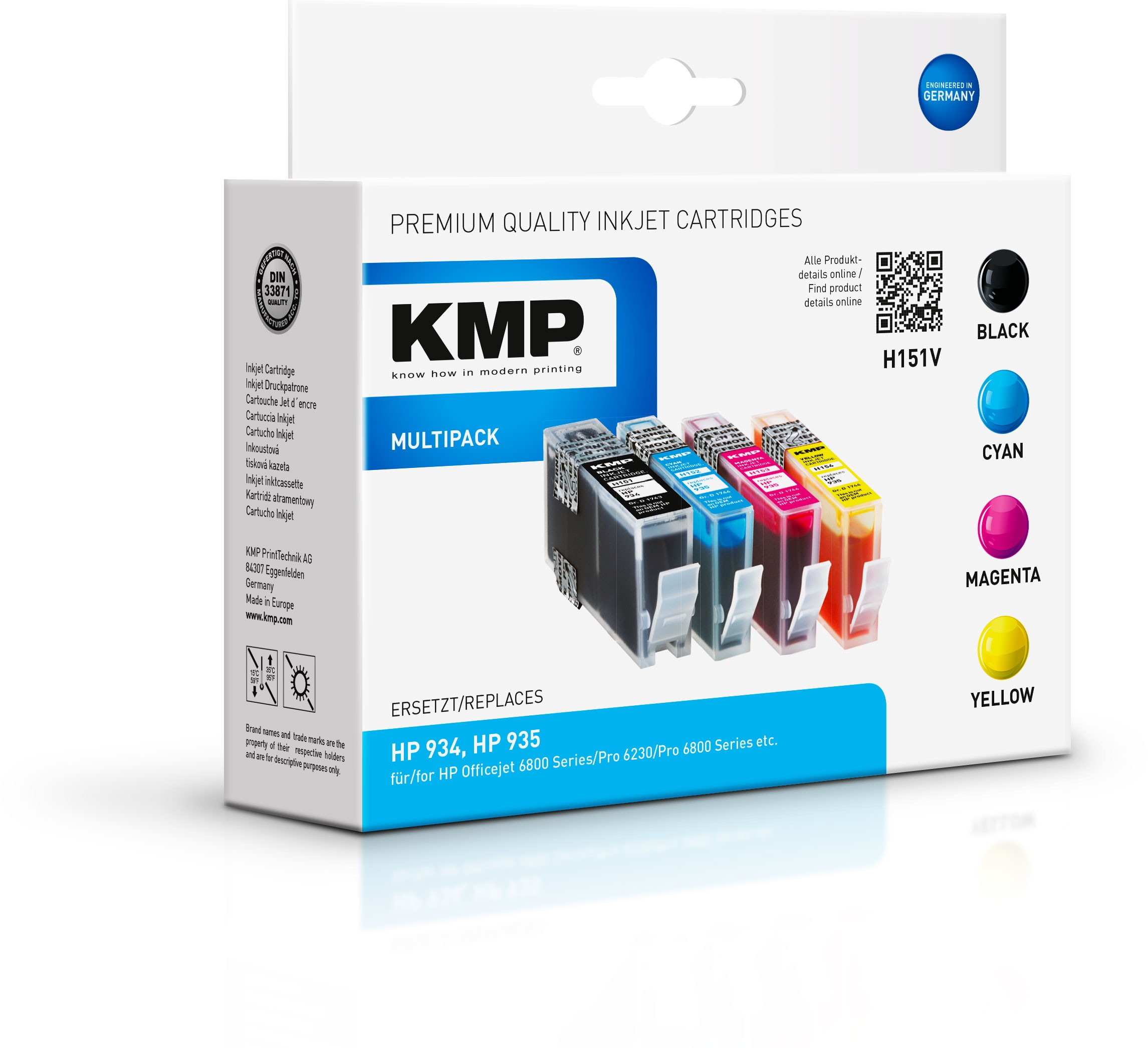 KMP Multipack H151V für HP934 935 Officejet 6800 etc.