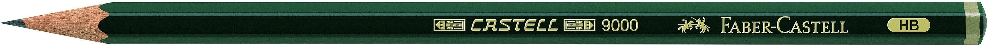 Faber-Castell Bleistift CASTELL® 9000, HB, Schaftfarbe: dunkelgrün