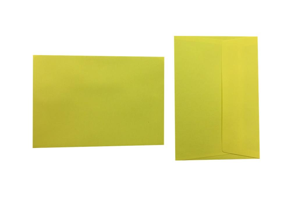 Pop'Set Umschläge C6 zitronengelb 120g/m² 100 Stück