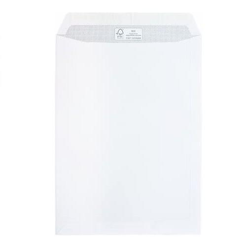 MAILmedia® Versandtasche, ohne Fenster, haftklebend, B4, 250 x 353 mm, 100 g/m², weiß (100 Stück), S