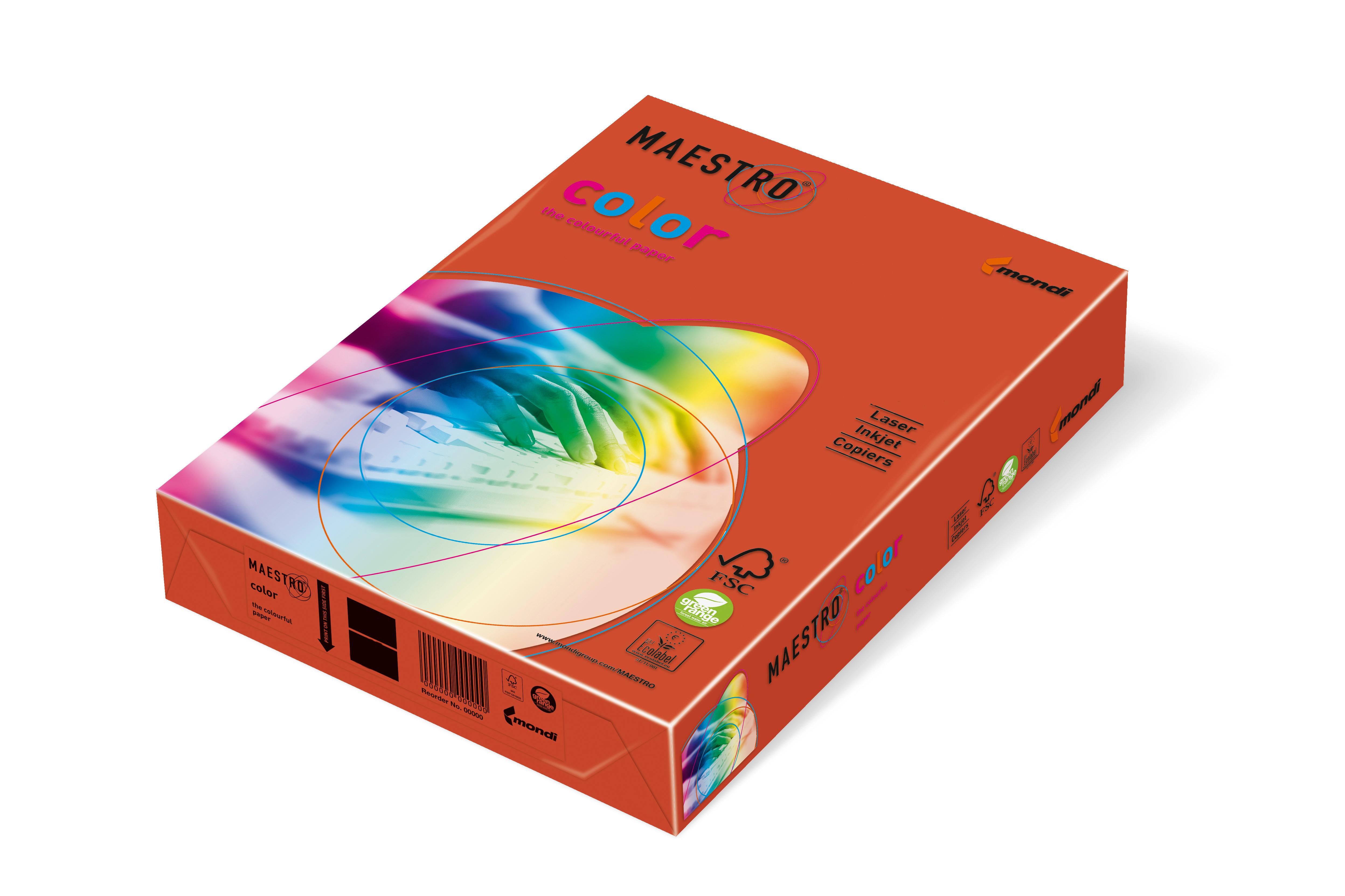 Vorschau: Mondi Maestro Color ziegelrot 80g/m² DIN-A4 - 500 BlattZR09