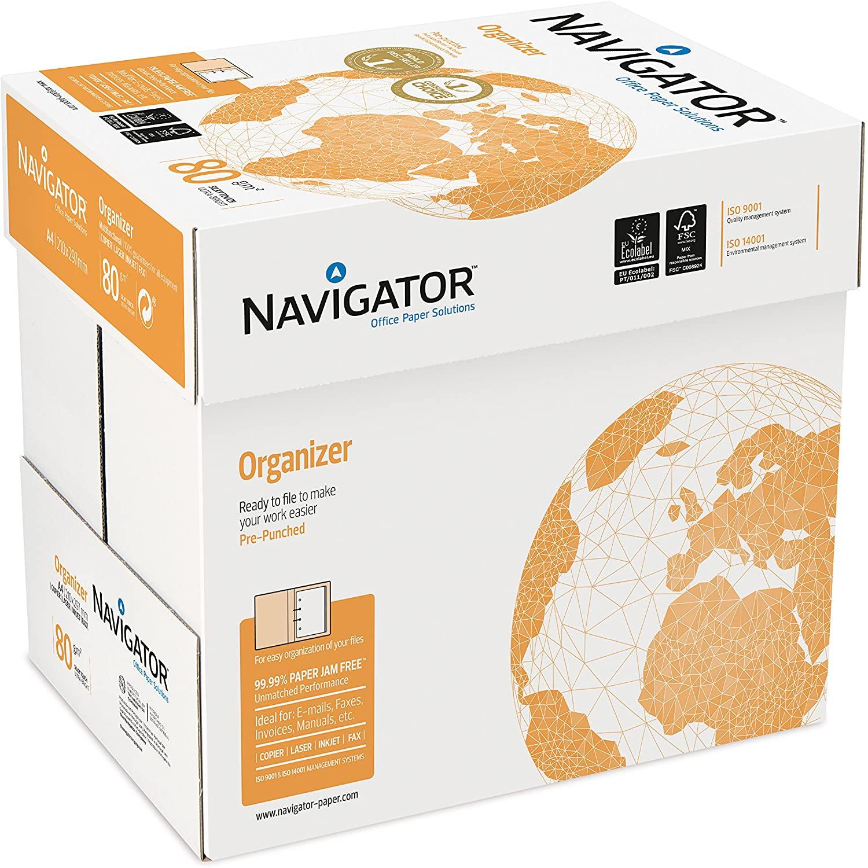 2500 Blatt Navigator Organizer 80g/m² DIN-A4 - 4-fach gelocht